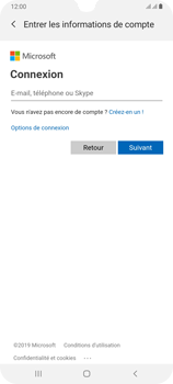 Samsung Galaxy A70 - E-mail - 032c. Email wizard - Outlook - Étape 7