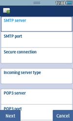 Samsung S5250 Wave 525 - E-mail - Manual configuration - Step 6