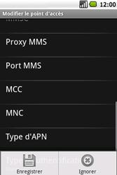 Samsung I5700 Galaxy Spica - MMS - configuration manuelle - Étape 12