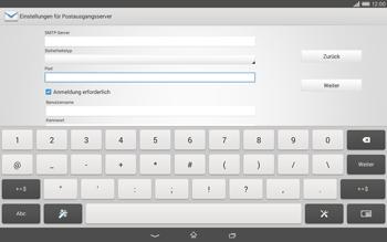 Sony Xperia Tablet Z2 LTE - E-Mail - Konto einrichten - Schritt 13