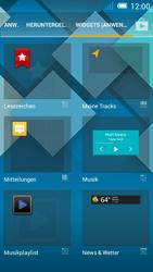 Alcatel Pop C7 - Startanleitung - Installieren von Widgets und Apps auf der Startseite - Schritt 4