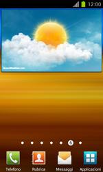 Samsung Galaxy S II - Operazioni iniziali - Installazione di widget e applicazioni nella schermata iniziale - Fase 6