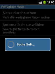 Samsung Galaxy Pocket - Netzwerk - Manuelle Netzwerkwahl - Schritt 8
