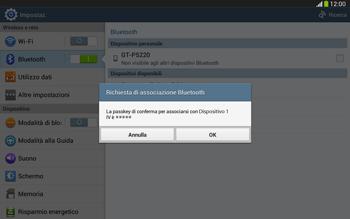 Samsung Galaxy Tab 3 10-1 LTE - Bluetooth - Collegamento dei dispositivi - Fase 7