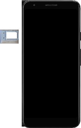 Google Pixel 3a - Premiers pas - Insérer la carte SIM - Étape 3