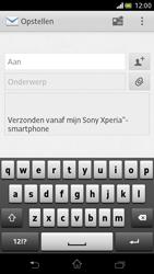 Sony LT30p Xperia T - e-mail - hoe te versturen - stap 5