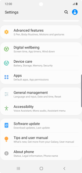 Samsung Galaxy Note 10 Plus 5G - Mobile phone - Resetting to factory settings - Step 4