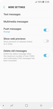 Samsung Galaxy S9 - SMS - Manual configuration - Step 7