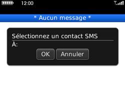 BlackBerry curve 3G - Contact, Appels, SMS/MMS - Envoyer un SMS - Étape 6