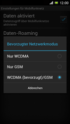 Sony Xperia J - Netzwerk - Netzwerkeinstellungen ändern - Schritt 7