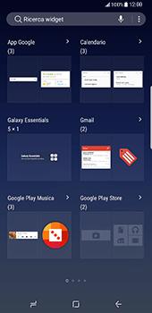 Samsung Galaxy S8 Plus - Operazioni iniziali - Installazione di widget e applicazioni nella schermata iniziale - Fase 4