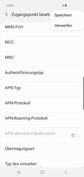 Samsung Galaxy S10 Plus - Internet und Datenroaming - Manuelle Konfiguration - Schritt 16