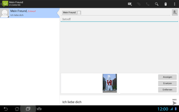 Asus Padfone 2 - MMS - Erstellen und senden - 1 / 1