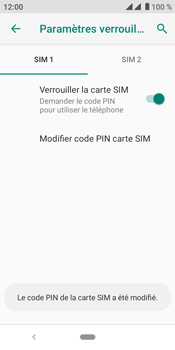 Crosscall Core M4 - Sécuriser votre mobile - Personnaliser le code PIN de votre carte SIM - Étape 12