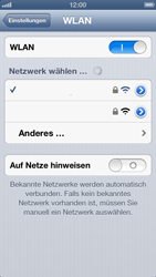 Apple iPhone 5 - WLAN - Manuelle Konfiguration - Schritt 7