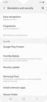 Samsung Galaxy A20e - Device - Enable Find my Phone - Step 5