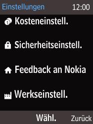 Nokia 225 - Gerät - Zurücksetzen auf die Werkseinstellungen - Schritt 3