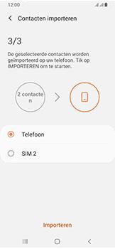 Samsung galaxy-a40-dual-sim-sm-a405fn - Contacten en data - Contacten kopiëren van SIM naar toestel - Stap 12