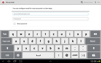 Samsung Galaxy Tab 2 10.1 - E-mail - Manual configuration - Step 4