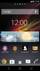 Sony Xperia V - Getting started - Installing widgets and applications on your start screen - Step 6