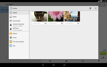 Sony Xperia Tablet Z2 LTE - MMS - Erstellen und senden - 18 / 22