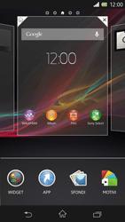 Sony Xperia Z - Operazioni iniziali - Installazione di widget e applicazioni nella schermata iniziale - Fase 3