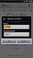 Sony Xperia Arc S - Internet - Navigation sur Internet - Étape 5