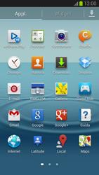 Samsung Galaxy S III - Operazioni iniziali - Installazione di widget e applicazioni nella schermata iniziale - Fase 4