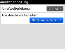 BlackBerry Bold - Anrufe - Rufumleitungen setzen und löschen - 7 / 12