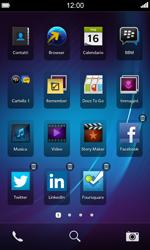 BlackBerry Z10 - Operazioni iniziali - Personalizzazione della schermata iniziale - Fase 6