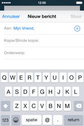 Apple iPhone 4s iOS 8 - E-mail - Bericht met attachment versturen - Stap 6