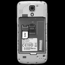 Samsung I9195 Galaxy S4 Mini LTE - SIM-Karte - Einlegen - Schritt 3