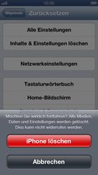 Apple iPhone 5 - Gerät - zurücksetzen auf die Werkseinstellungen - Schritt 8