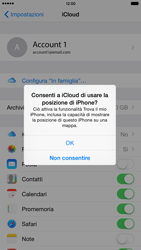 Apple iPhone 6 Plus iOS 8 - Applicazioni - configurazione del servizio Apple iCloud - Fase 8