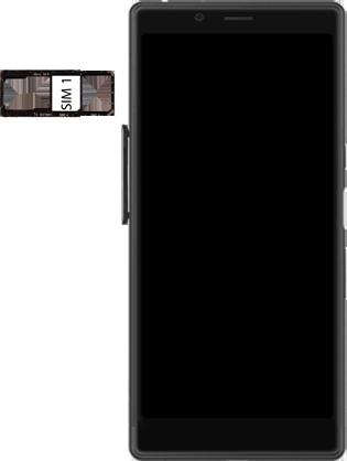 Sony Xperia L3 - SIM-Karte - Einlegen - Schritt 4