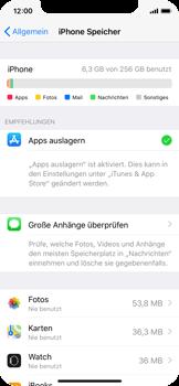 Apple iPhone X - Apps - Automatisches Entfernen nicht genutzter Apps aktivieren - 2 / 2
