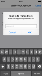 Apple iPhone 5s - iOS 8 - Applications - Create an account - Step 26