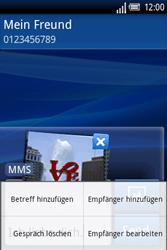 Sony Ericsson Xperia X8 - MMS - Erstellen und senden - Schritt 14