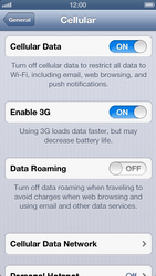 Apple iPhone 5 - Internet and data roaming - Disabling data roaming - Step 6