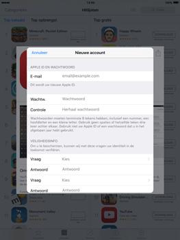 Apple iPad mini met iOS 9 (Model A1455) - Applicaties - Account aanmaken - Stap 12