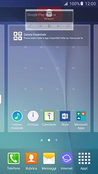 Samsung Galaxy A8 - Operazioni iniziali - Installazione di widget e applicazioni nella schermata iniziale - Fase 10