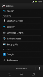 Sony Xperia Z - Mobile phone - Resetting to factory settings - Step 4