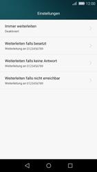 Huawei P8 Lite - Anrufe - Rufumleitungen setzen und löschen - 6 / 9