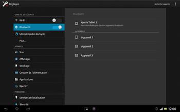 Sony Xperia Tablet Z LTE - Bluetooth - Jumelage d