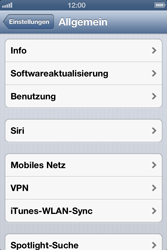 Apple iPhone 4S - Internet - Manuelle Konfiguration - Schritt 4
