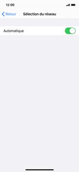 Apple iPhone X - iOS 14 - Réseau - Sélection manuelle du réseau - Étape 5