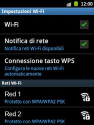 Samsung Galaxy Pocket - WiFi - Configurazione WiFi - Fase 7