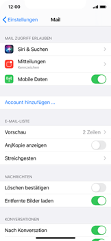 Apple iPhone X - iOS 14 - E-Mail - 032c. Email wizard - Outlook - Schritt 4