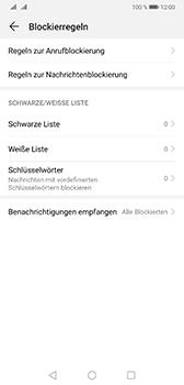 Huawei Mate 20 - Anrufe - Anrufe blockieren - 6 / 12