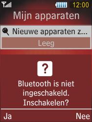 Samsung S5550 Chester - Bluetooth - headset, carkit verbinding - Stap 6